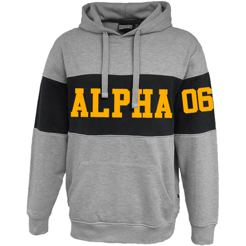 Alpha Phi Alpha Cross Chest Hoodie - Letters Greek Apparel - Black Greek Paraphernalia - Divine Nine Greek Apparel