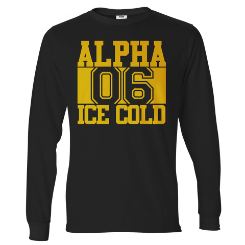 Alpha Phi Alpha Chant Long Sleeve T-Shirt - Letters Greek Apparel - Black Greek Paraphernalia - Divine Nine Greek Apparel