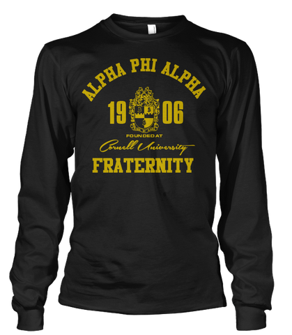 Alpha Phi Alpha Roots Long Sleeve T-Shirt - Letters Greek Apparel - Black Greek Paraphernalia - Divine Nine Greek Apparel
