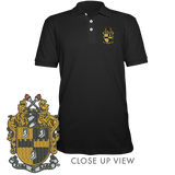 Alpha Phi Alpha Embroidered Crest Polo - Letters Greek Apparel - Black Greek Paraphernalia - Divine Nine Greek Apparel