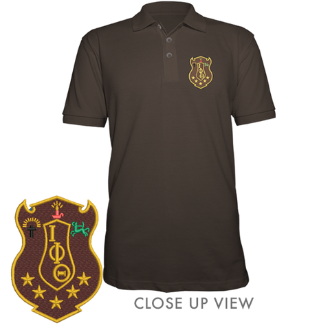 Iota Phi Theta Polo - Letters Greek Apparel - Black Greek Paraphernalia - Divine Nine Greek Apparel - Atlanta Greek Store