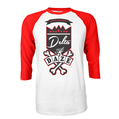 Delta Sigma Theta School Daze Raglan - Letters Greek Apparel - Black Greek Paraphernalia - Divine Nine Greek Apparel