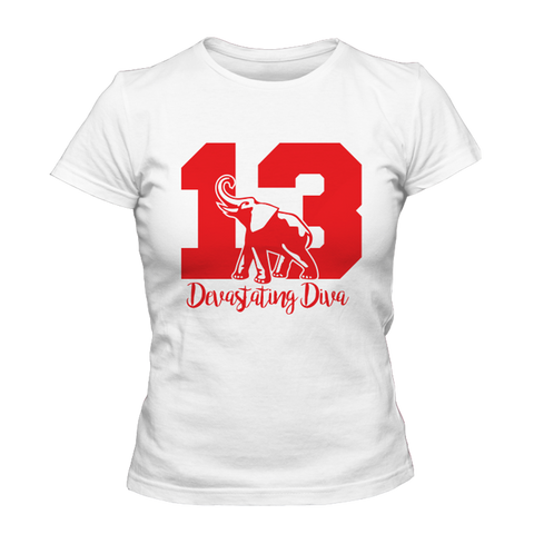 Delta Sigma Theta Diva Founded T-Shirt - Letters Greek Apparel - Black Greek Paraphernalia - Divine Nine Greek Apparel - Atlanta Greek Store