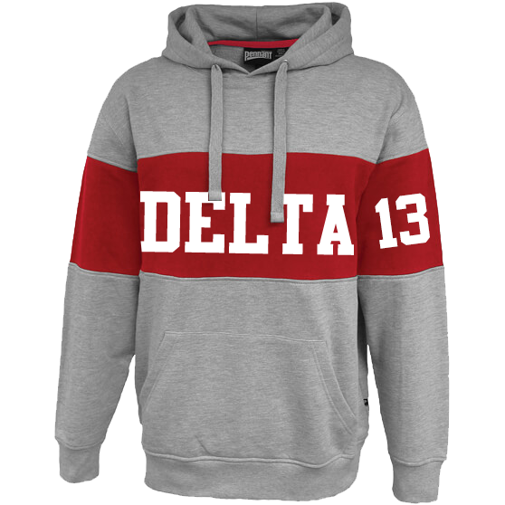 Delta Sigma theta Cross Chest Hoodie - Letters Greek Apparel - Black Greek Paraphernalia - Divine Nine Greek Apparel