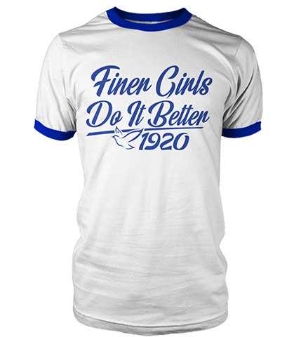 Zeta Phi Beta Do It Better Ringer Tee - Letters Greek Apparel - Black Greek Paraphernalia - Divine Nine Greek Apparel