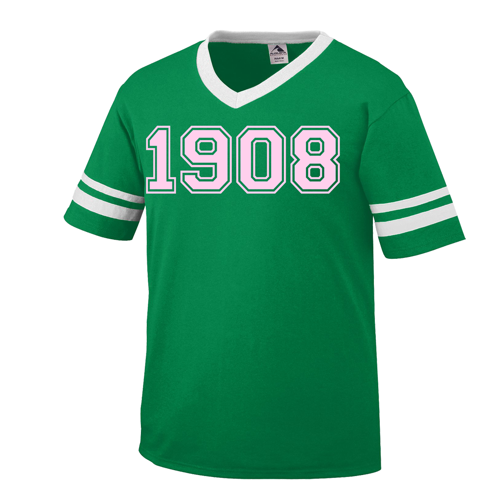 sorority letter shirts alpha kappa alpha 1908 stripe t shirt letters apparel 24923 | green 1908 1024x1024