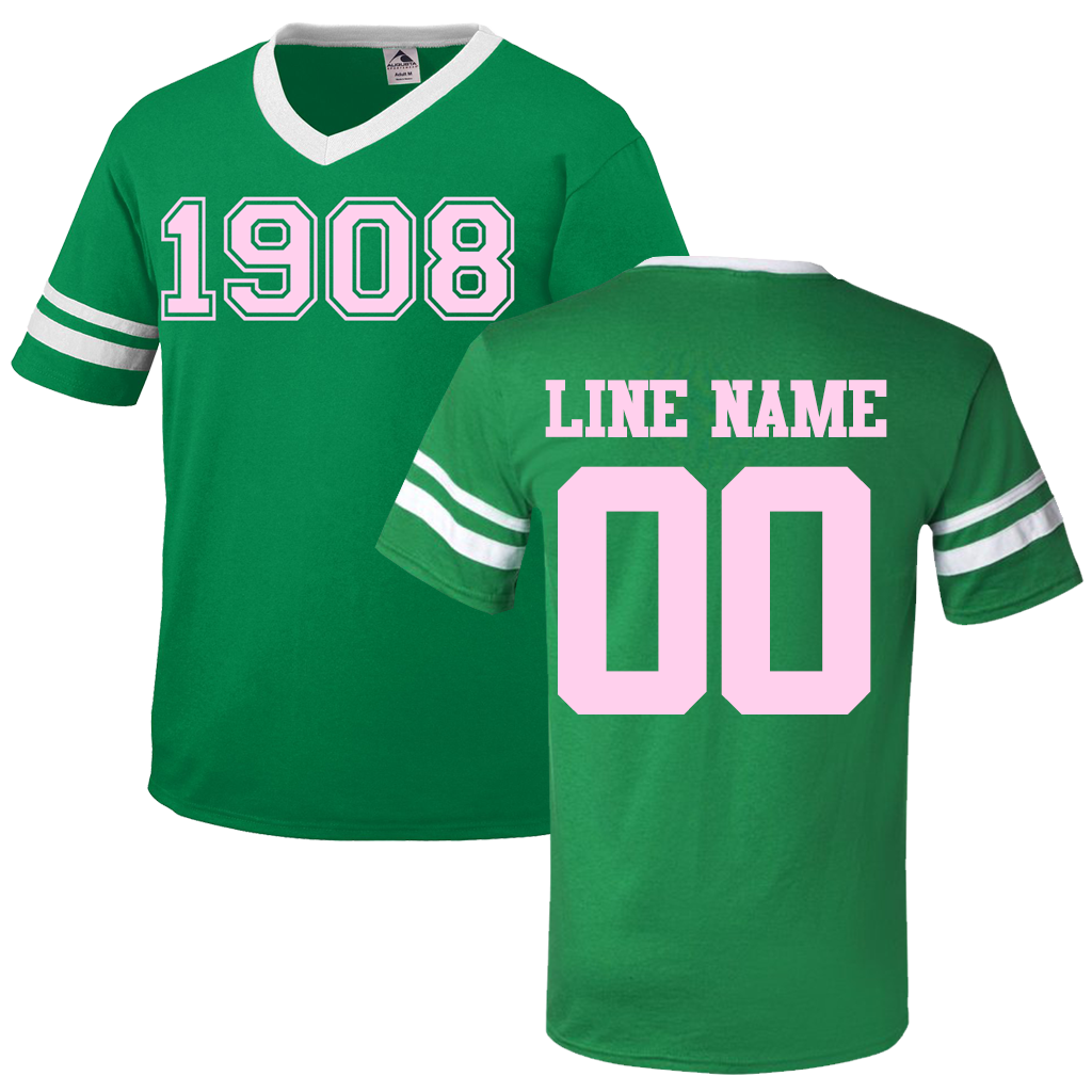 black and green jersey