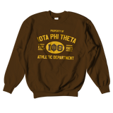 Iota Phi Theta Athletic Crewneck Sweatshirt - Letters Greek Apparel - Black Greek Paraphernalia - Divine Nine Greek Apparel - Atlanta Greek Store
