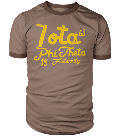 Iota Phi Theta Aviator Ringer T-Shirt - Letters Greek Apparel - Black Greek Paraphernalia - Divine Nine Greek Apparel