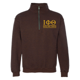 Iota Phi Theta Embroidered Quarter-Zip Sweatshirt - Letters Greek Apparel - Black Greek Paraphernalia - Divine Nine Greek Apparel