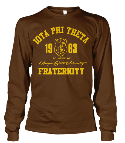 Iota Phi Theta Roots Long Sleeve T-Shirt - Letters Greek Apparel - Black Greek Paraphernalia - Divine Nine Greek Apparel