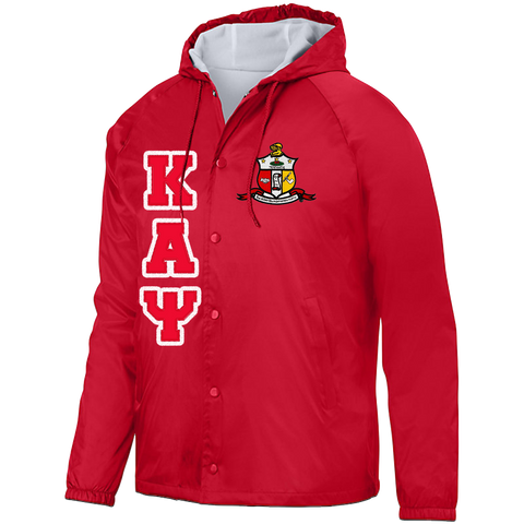 Kappa Alpha Psi Hooded Crossing Jacket - Letters Greek Apparel - Black Greek Paraphernalia - Divine Nine Greek Apparel