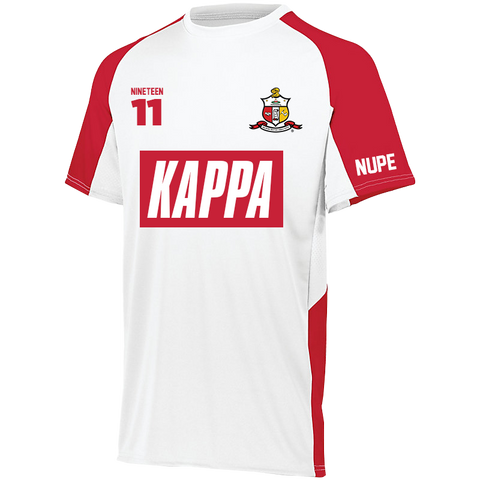Kappa Alpha Psi Home Soccer Jersey - Letters Greek Apparel - Black Greek Paraphernalia - Divine Nine Greek Apparel - Atlanta Greek Store