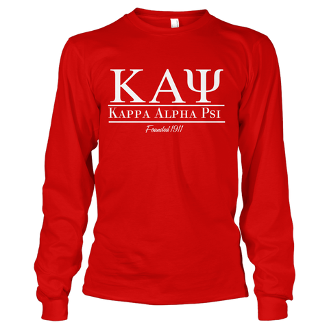 Kappa Alpha Psi Collegiate Long Sleeve - Letters Greek Apparel-Black Greek Paraphernalia-Divine Nine Apparel
