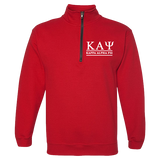 Kappa Alpha Psi Embroidered Quarter-Zip Sweatshirt - Letters Greek Apparel - Black Greek Paraphernalia - Divine Nine Greek Apparel