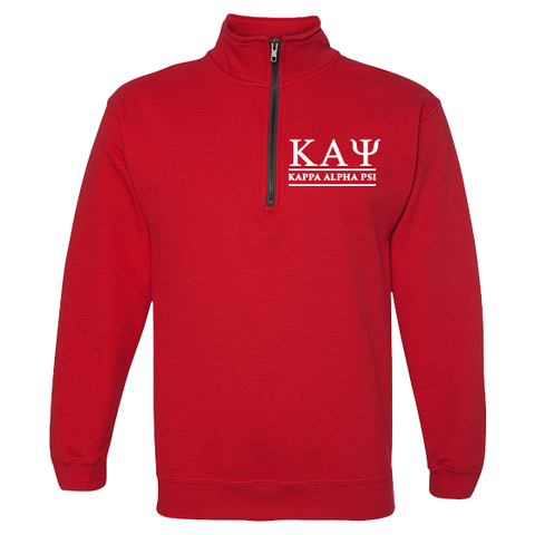 Kappa Alpha Psi Embroidered Quarter-Zip Sweatshirt - Letters Greek Apparel - Black Greek Paraphernalia - Divine Nine Greek Apparel - Atlanta Greek Store