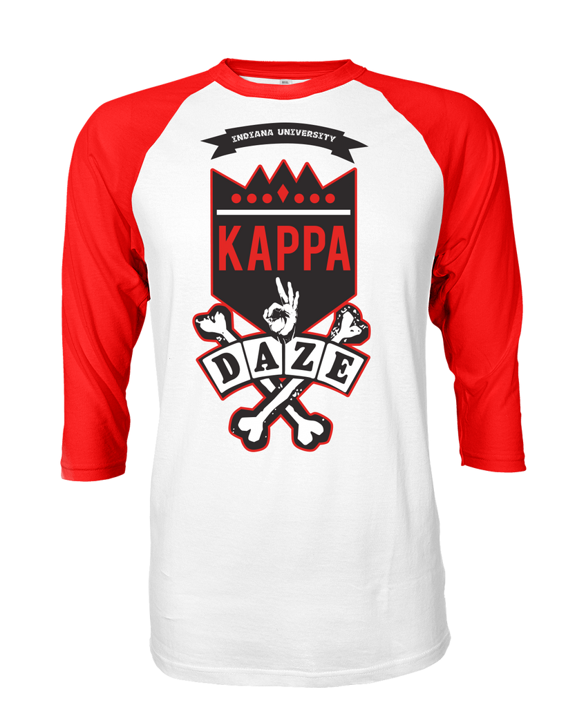 Kappa Alpha Psi Skool Daze Raglan - Letters Greek Apparel - Black Greek Paraphernalia - Divine Nine Greek Apparel