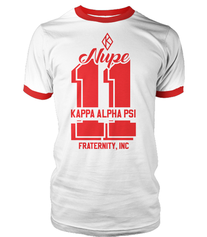 Kappa Alpha Psi Legendary Ringer T-Shirt - Letters Greek Apparel - Black Greek Paraphernalia - Divine Nine Greek Apparel