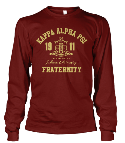 Kappa Alpha Psi Roots Long Sleeve T-Shirt - Letters Greek Apparel - Black Greek Paraphernalia - Divine Nine Greek Apparel
