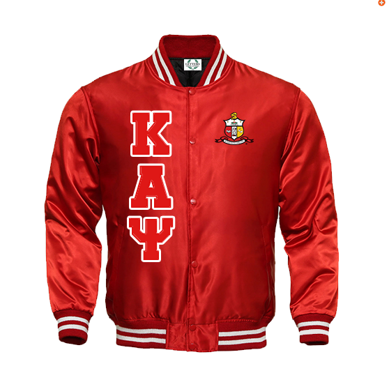 Kappa Alpha Psi Satin Baseball Bomber Jacket