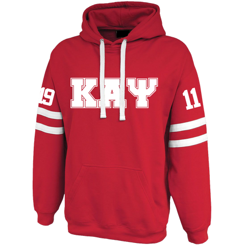 Kappa Alpha Psi Twin-Streak Hoodie - Letters Greek Apparel - Black Greek Paraphernalia - Divine Nine Greek Apparel