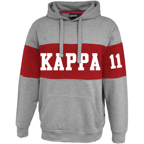 Kappa Alpha Psi Cross Chest Hoodie - Letters Greek Apparel - Black Greek Paraphernalia - Divine Nine Greek Apparel