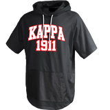 Kappa Alpha Psi Short Sleeve Trainer Hoodie - Letters Greek Apparel - Black Greek Paraphernalia - Divine Nine Greek Apparel - Atlanta Greek Store