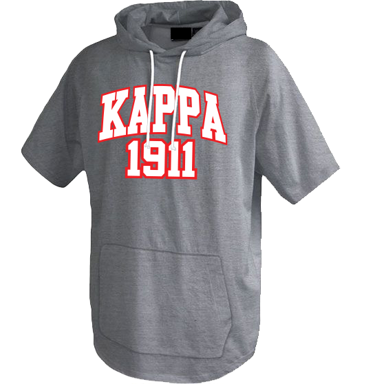 Kappa Alpha Psi Short Sleeve Trainer Hoodie - Letters Greek Apparel - Black Greek Paraphernalia - Divine Nine Greek Apparel