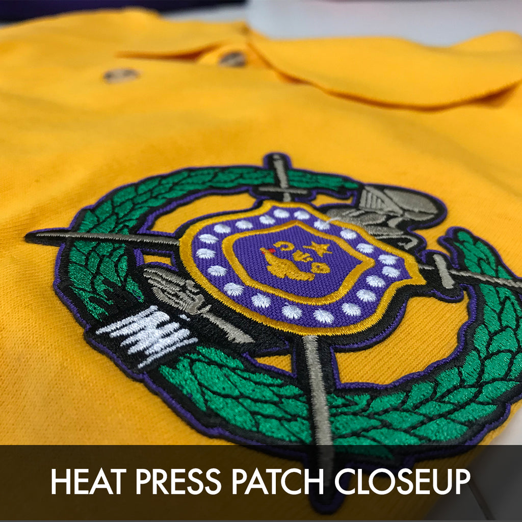 Omega Psi Phi Embroidered Fraternity Crest Polo Letters Greek Apparel