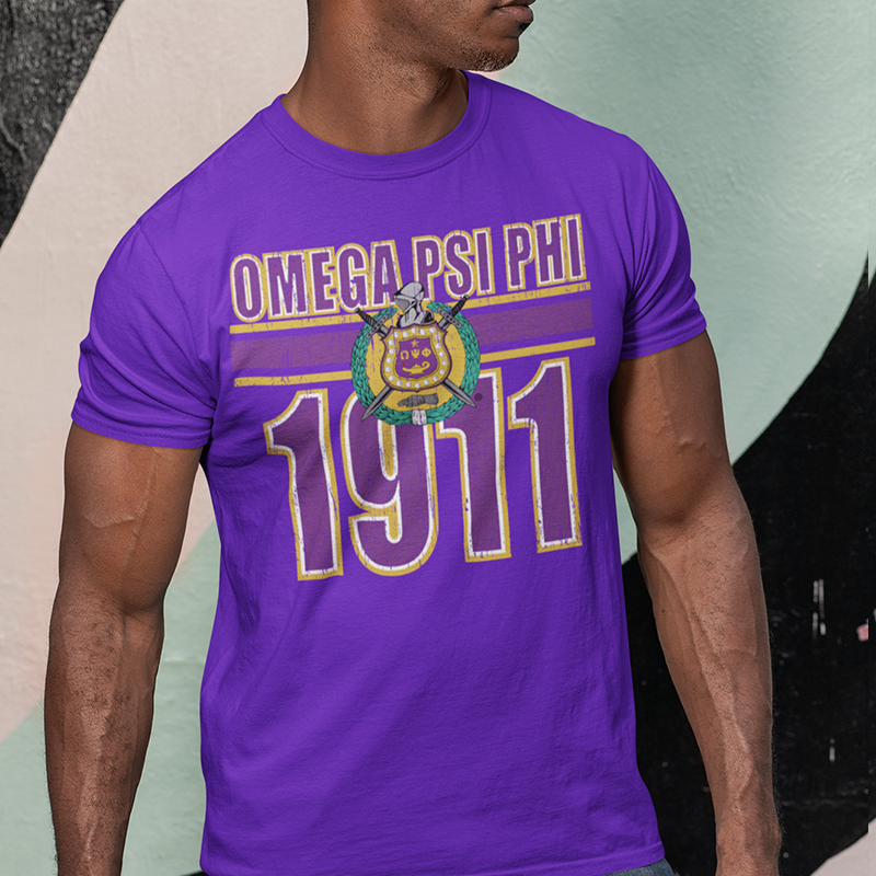 Omega Psi Phi Homage T-Shirt - Letters Greek Apparel - Black Greek Paraphernalia - Divine Nine Greek Apparel - Atlanta Greek Store