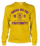 Omega Psi Phi Roots Long Sleeve T-Shirt - Letters Greek Apparel - Black Greek Paraphernalia - Divine Nine Greek Apparel