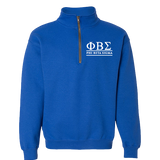 Phi Beta Sigma Quarter-zip Sweatshirt - Letters Greek Apparel - Black Greek Paraphernalia - Divine Nine Greek Apparel - Atlanta Greek Store