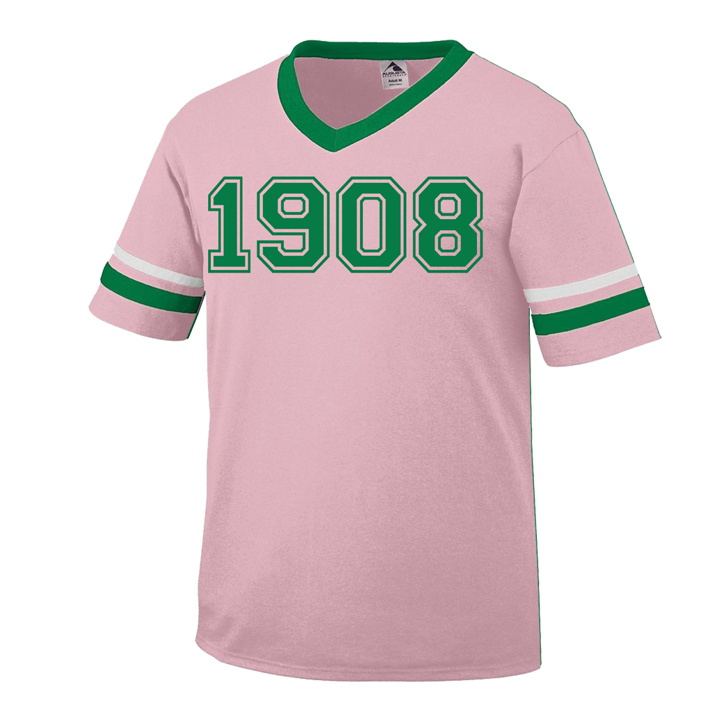 Alpha Kappa Alpha 1908 Stripe T-Shirt – Letters Greek Apparel