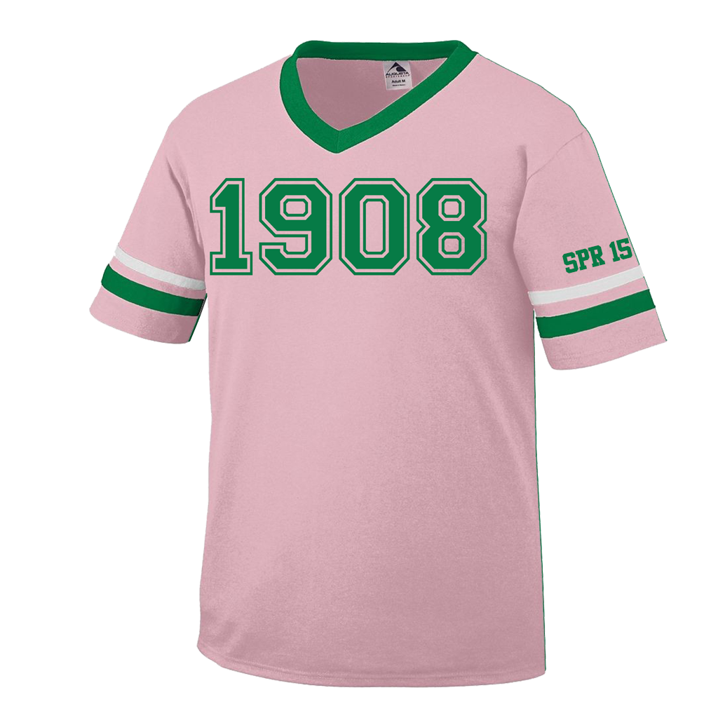 ddc37e57bbb Alpha Kappa Alpha Custom Crossing Jersey – Letters Greek Apparel