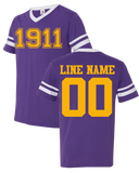Omega Psi Phi Custom Crossing Jersey - Letters Greek Apparel-Black Greek Paraphernalia-Divine Nine Apparel