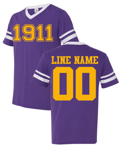 Omega Psi Phi Custom Crossing Jersey - Letters Greek Apparel - Black Greek Paraphernalia - Divine Nine Greek Apparel - Atlanta Greek Store