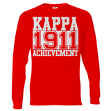 Kappa Alpha Psi Chant Long Sleeve T-Shirt - Letters Greek Apparel - Black Greek Paraphernalia - Divine Nine Greek Apparel