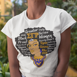 Sigma Gamma Rho Black Queen T-Shirt - Letters Greek Apparel - Black Greek Paraphernalia - Divine Nine Greek Apparel - Atlanta Greek Store