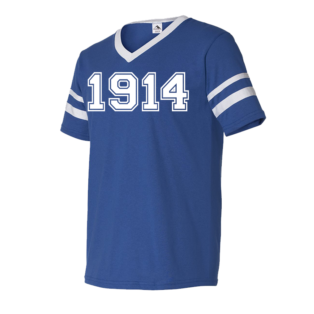 Phi Beta Sigma 1914 Stripe Tee - Letters Greek Apparel-Black Greek Paraphernalia-Divine Nine Apparel