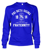Phi Beta Sigma Roots Long Sleeve T-Shirt - Letters Greek Apparel - Black Greek Paraphernalia - Divine Nine Greek Apparel