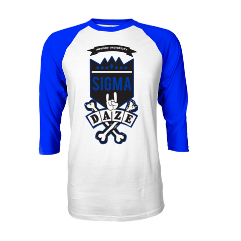 Phi Beta Sigma School Daze Raglan - Letters Greek Apparel - Black Greek Paraphernalia - Divine Nine Greek Apparel