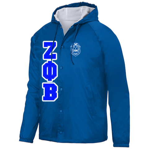 Zeta Phi Beta Hooded Crossing Jacket