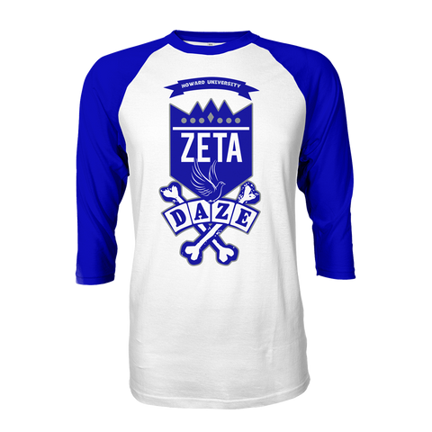 Zeta Phi Beta School Daze Raglan - Letters Greek Apparel - Black Greek Paraphernalia - Divine Nine Greek Apparel