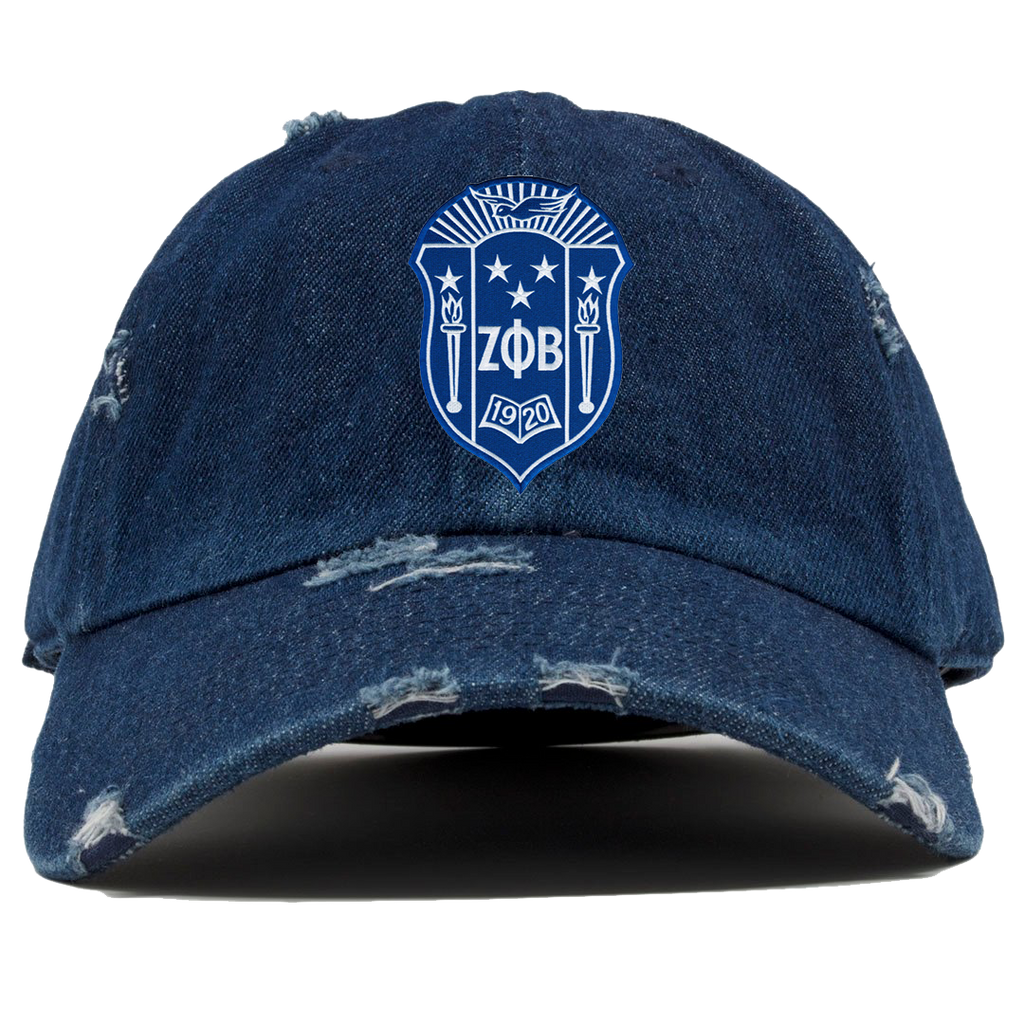 Zeta Phi Beta Denim Distress Hat