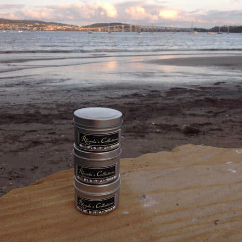 Tasmanian Hand Poured Soy Wax  Tin.  Tasmanian Sea Breeze