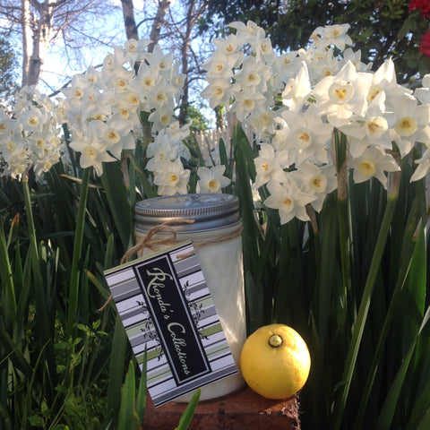 Tasmanian Hand Poured Lemon Zest Soy Wax Candle In Mason Jar