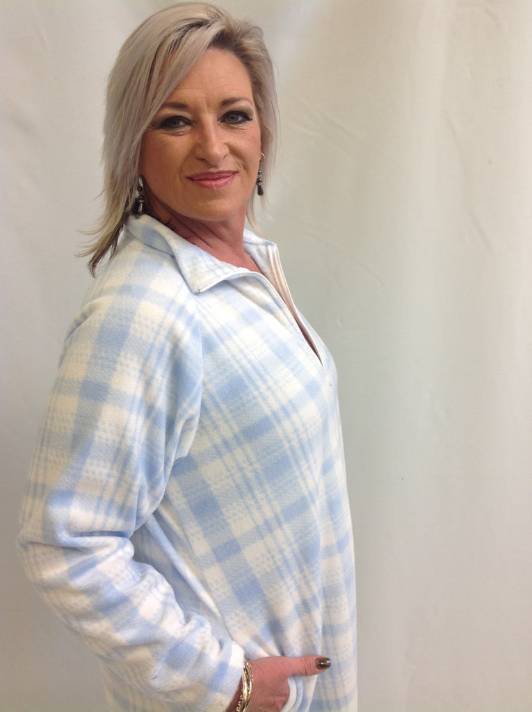 Locally Made Slow Fashion Blue Dressing Gown – Rhonda\'s Collections