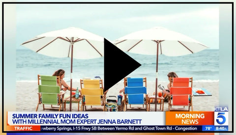 BEACH NOW featured on KTLA5 Summer Family Fun with Jenna Barnette