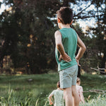 Kids Pj Singlet - Watercress - The Rest