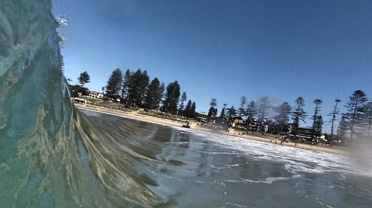 PPP bodysurfing handboards Velo Midi+ holding in on a Dee Why wave